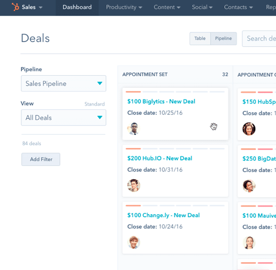hubspot crm sales pipeline manager demo