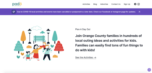 Plan a Day Out home page.