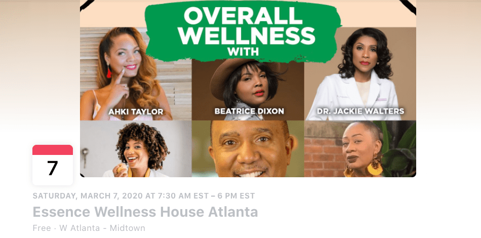 A Overall Wellness cover photo showcasing the speakers at The Honey Pot Company's Atlanta event