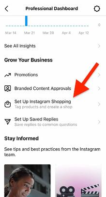 How to submit your Instagram shop account for review on your professional dashboard
